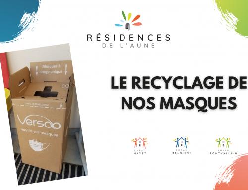 Le recyclage des masques en EHPAD